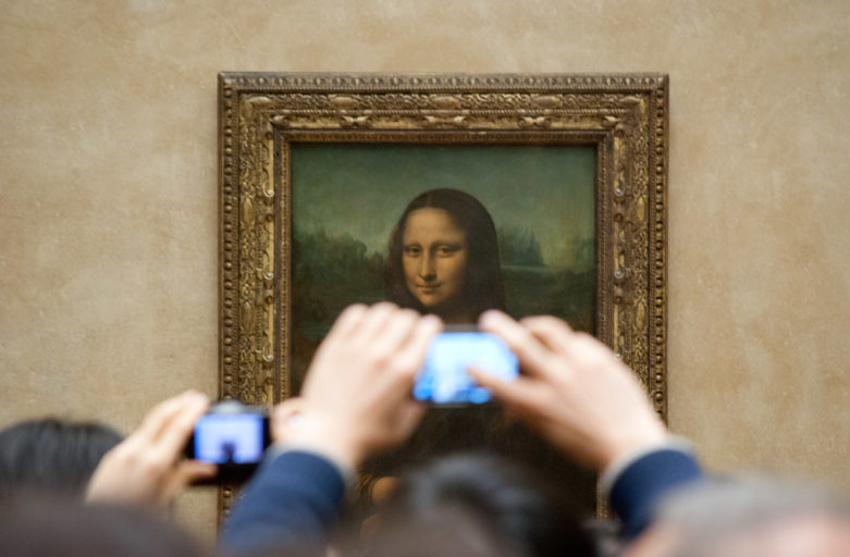Die fesche Mona Lisa bei Instagram